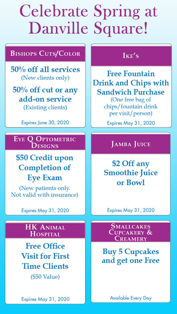 danville square mall spring coupons 2020