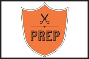 prep hair salon logo